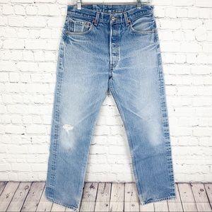 Levi's 501xx Jeans Distressed Straight Leg 33x34